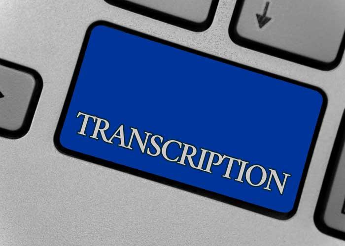 medical, legal, insurance transcription service